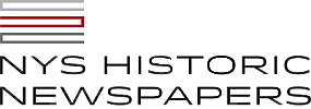 New York State Historic Newspapers Logo