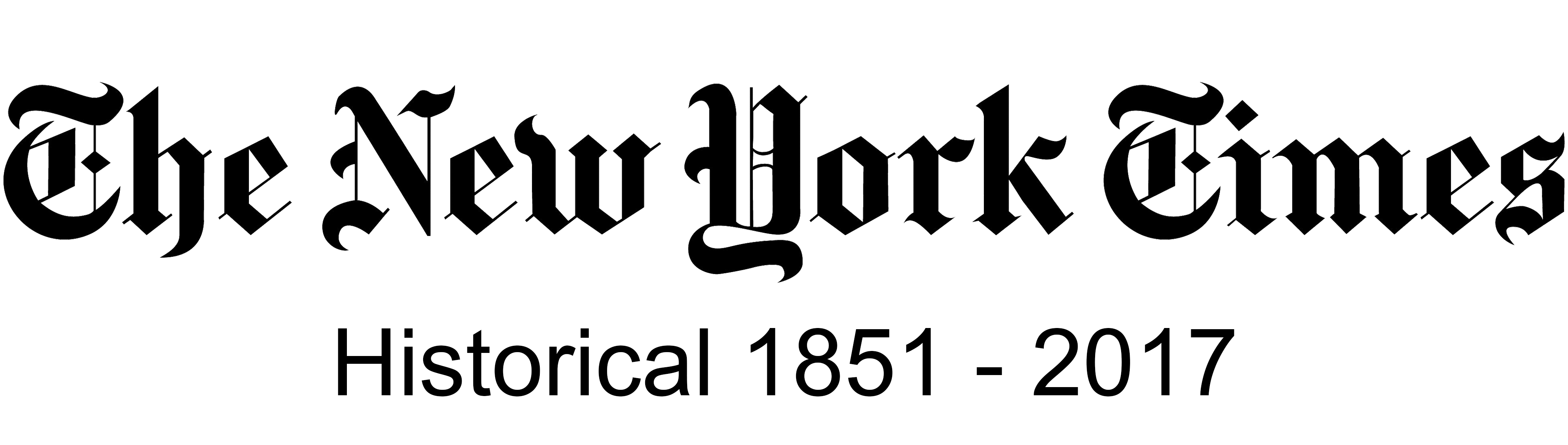 The New York Times Historical Logo