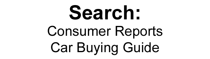 Consumer Reports Car Buying Guide Logo